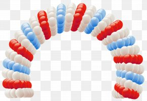 Independence Day Fourth Of July Balloon Arch Clipart Picture - Balloon Arch Clip Art PNG