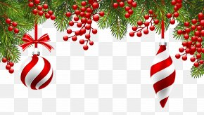 Christmas Pine Decoration Clipart Image - Christmas Gift Wallpaper PNG
