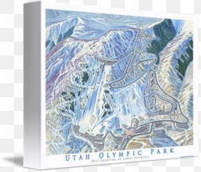 Abstract Olympic - Utah Olympic Park Printmaking Gallery Wrap Canvas Art PNG