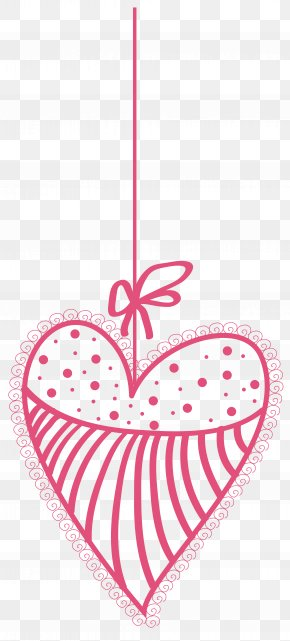 Decorative Heart Transparent PNG Clip Art Image - Heart Valentine's Day Clip Art PNG