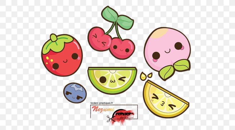 Kawaii Drawing Fruit Image Clip Art Png 573x455px Watercolor Cartoon Flower Frame Heart Download Free