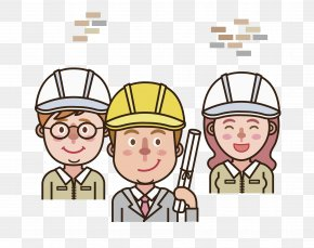 Smiling Construction Engineer - Architectural Engineering Construction Engineering Clip Art PNG
