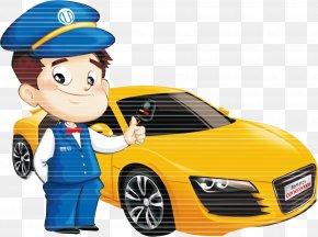 Cartoon On Behalf Of Driving Illustrations - Taxi Car Rental Poster Advertising PNG