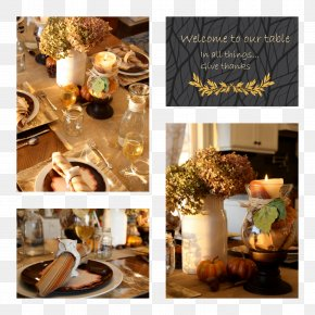 Table - Centrepiece Table Thanksgiving Holiday Halloween PNG