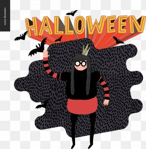 Halloween Black Funny People - Halloween Costume Jack-o'-lantern Illustration PNG