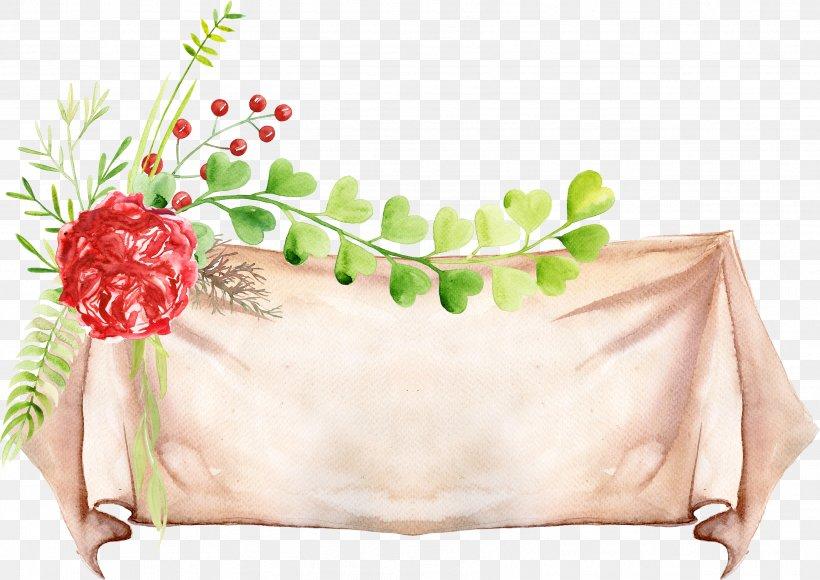 Web Banner Clip Art, PNG, 3418x2419px, Banner, Floral Design, Flower, Flower Arranging, Image Resolution Download Free