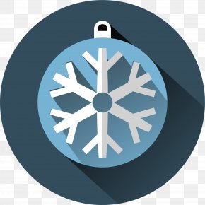 Blue Snowflake Circle - Snowflake Drawing Royalty-free Illustration PNG