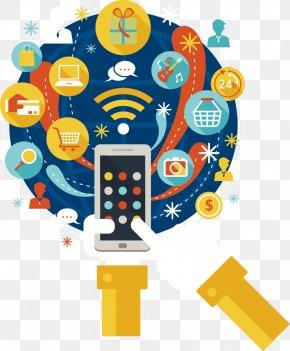 Vector Phone Long Shadow - Social Media Laptop Mobile Phones Mass Media PNG