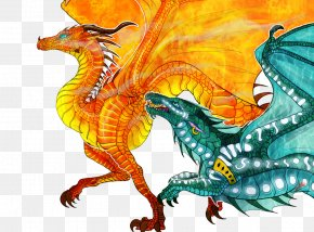 Wings Of Fire Fanart - Dragon Wings Of Fire Art Escaping Peril Drawing PNG