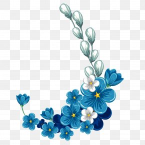 Vector Blue Blue And White Porcelain Flowers - Flower Stock Photography Clip Art PNG