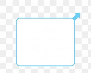 Text Box - Blue Rectangle Teal Turquoise Square PNG