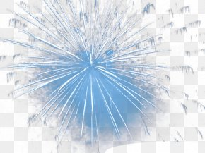 Blue Frost Fireworks Wallpaper - Blue Sky Structure Pattern PNG