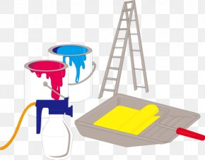 Cartoon Bucket Ladder Vector - Industry Clip Art PNG