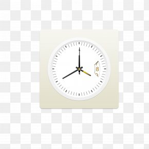 Clock Mark - Alarm Clock Brand White PNG