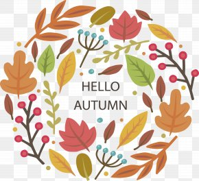 Hello Autumn Poster - Poster Autumn Download PNG