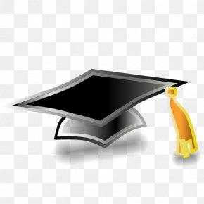 Cap - Square Academic Cap Doctoral Hat Clip Art PNG