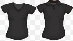 Black T-shirt - T-shirt Polo Shirt Clothing Clip Art PNG