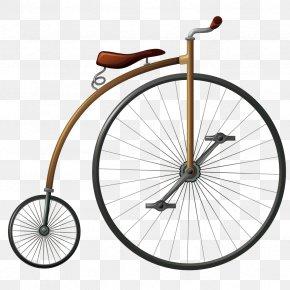 Vector Vintage Bicycle - Bicycle Wheel Penny-farthing Big Wheel PNG