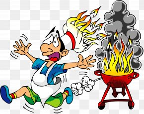 Cartoon Fire - Barbecue Chicken Western BBQ Clip Art PNG