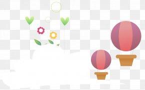 Cartoon Hot Air Balloon Clouds - Hot Air Balloon Clip Art PNG