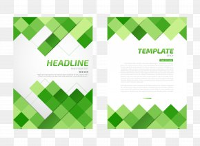 Green Square Background Flyer - Flyer Paper PNG