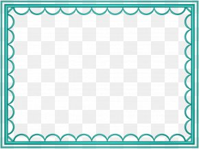 Teal Border Frame Photos - Microsoft PowerPoint Clip Art PNG