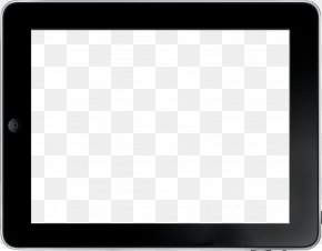 Transparent Tablet Image - Black And White Square Chessboard Pattern PNG