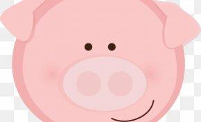 Pig - Pig Cheek Snout Mouth Clip Art PNG