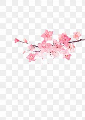 Pink Corner Flower Decoration - Flower Pink PNG