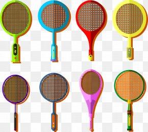 Coloured Badminton Racket - Badmintonracket Badmintonracket Rakieta Tenisowa PNG