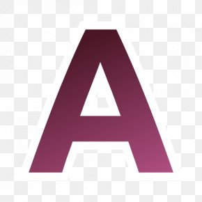 Actions Draw Text - Pink Triangle Purple Brand PNG