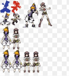 Sprite - The World Ends With You Kingdom Hearts 3D: Dream Drop Distance Sprite Riku PNG