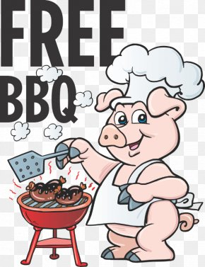 Barbecue - Pig Roast Barbecue Roasting Grilling Clip Art PNG