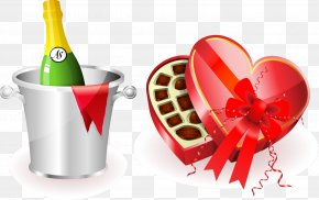 Valentines Day - Valentine's Day Chocolate Box Art Candy Chocolate Truffle PNG