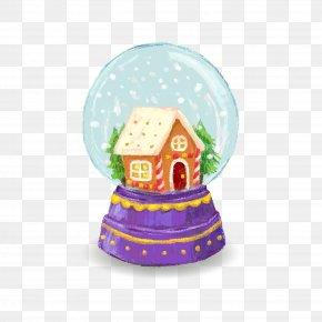 Christmas Houses Vector Crystal Ball - Santa Claus Crystal Ball Christmas Tree Euclidean Vector PNG