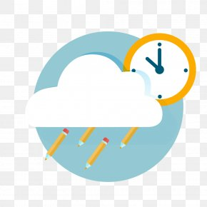 Cloud Alarm Clock Education Element - Education Alarm Clock Clip Art PNG