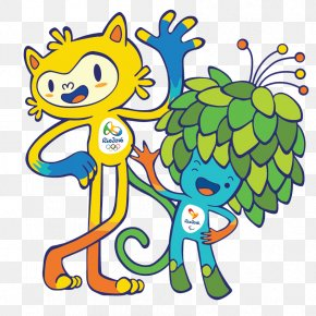 Rio Olympic Mascots - 2016 Summer Olympics Opening Ceremony Rio De Janeiro Paralympic Games Mascot PNG