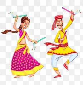 Costume Dancer - India Watercolor PNG
