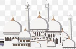 Vector European-style Paper Art Castle - Kaaba Ramadan Mosque Islam Eid Mubarak PNG