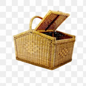Bamboo Basket - Picnic Basket Basket Weaving PNG