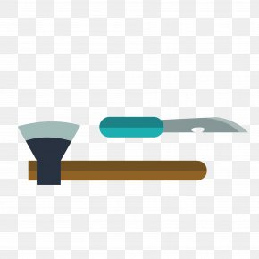 Vector Ax And Knife - Knife Axe PNG