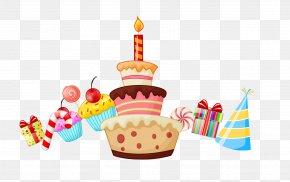 Birthday Cake And Gifts - Birthday Cake Cartoon Clip Art PNG