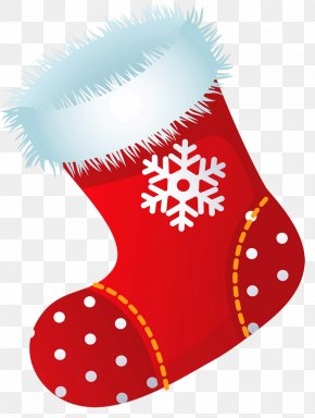 Xmas Stocking Picture Clipart - Christmas Stocking Santa Claus Clip Art PNG