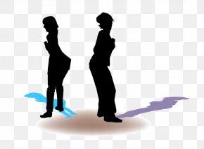 Vector Silhouette Figures - Human Behavior PNG