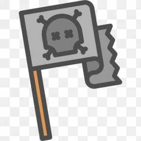 Cartoon Pirate Flag - Piracy Jolly Roger Icon PNG