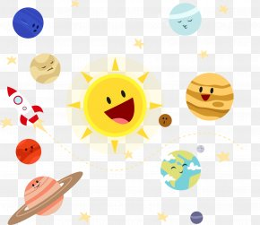 Cute Solar System Planet Vector Material - Earth Solar System Planet Illustration PNG
