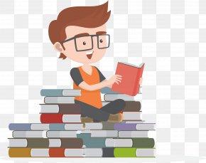 Vector Book Mountain Book Sea - Child Reading Book PNG