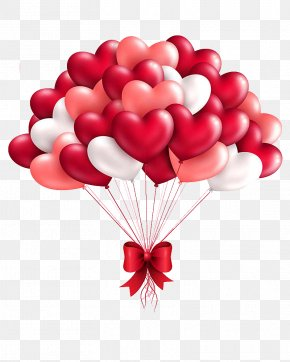 Heart-shaped Balloon - Heart Balloon Valentine's Day Gift Clip Art PNG