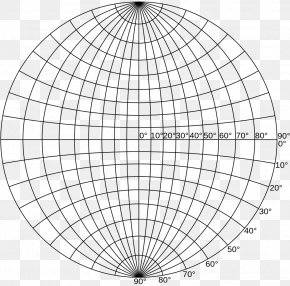 Graduated - Wulff Net Stereographic Projection Pole Figure Plane PNG