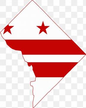 Map - Flag Of Washington, D.C. Blank Map Clip Art PNG